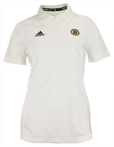 Adidas NHL Women's Boston Bruins Adiselect Logo Polo, White