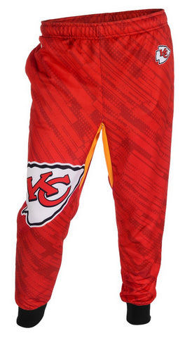 KLEW NFL Men's Kansas City Chiefs Cuffed Jogger Pants, Red