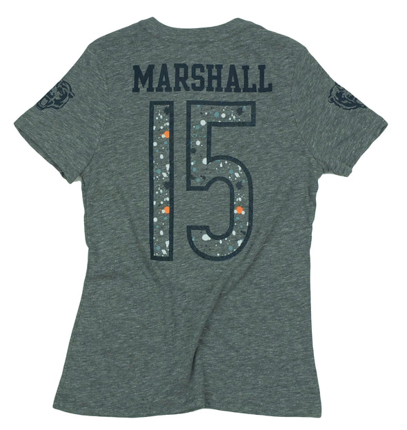 NFL Youth Girls Chicago Bears Brandon Marshall Short Sleeve Splatter T-Shirt, Grey