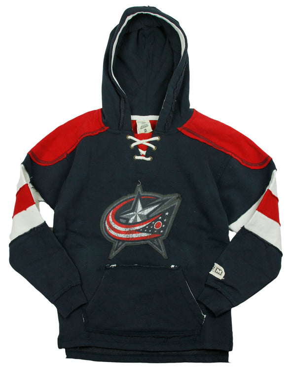 Reebok NHL Youth Boy's Columbus Bluejackets VINTAGE Style Pullover Hoodie - Navy