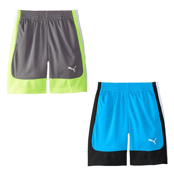 PUMA Youth Boys Curve Short - Gray and Blue
