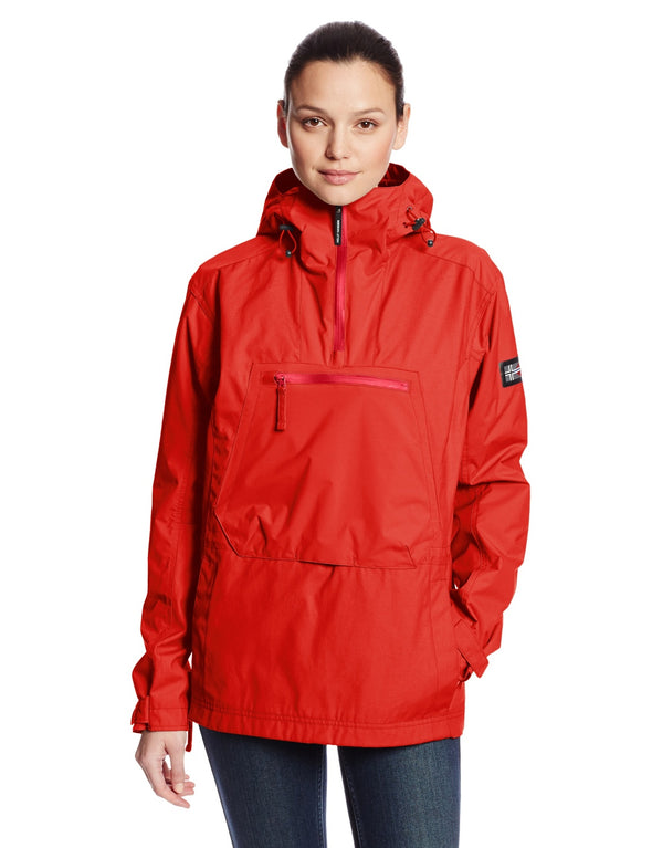 Helly Hansen Women's Jotun Anorak Jacket Coat - Coral & Grey