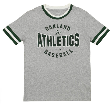 Outerstuff MLB Youth Oakland Athletics Short Sleeve Ringer Tee