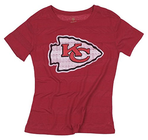 NFL Juniors Kansas City Chiefs Bolder Striped Short Sleeve Tee T-Shirt 8c4d9fdb4