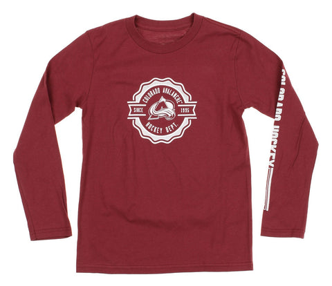 Reebok NHL Youth Colorado Avalanche Long Sleeve Icon Tee
