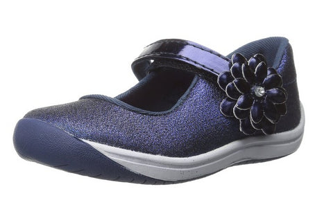 Stride Rite Toddler Haylie Mary Jane Slip On Shoes, Navy
