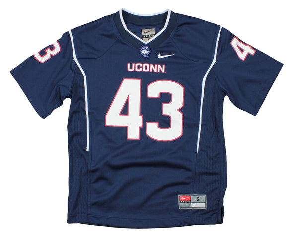 Nike NCAA Youth Boys UConn Connecticut Huskies #43 Replica Football Jersey