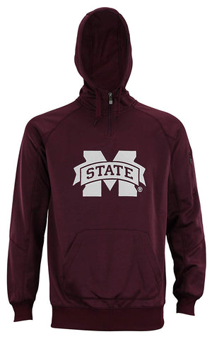 "Outerstuff Men's NCAA Mississippi State Bulldogs ""Fan Basic"" 1/4 Zip Hoodie"