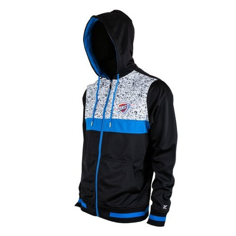 Zipway Oklahoma City Thunder NBA Men's INK Full Zip Hoodie Sweatshirt, Black