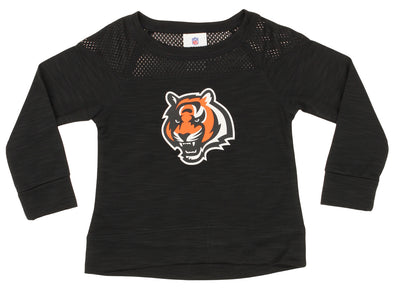 Outerstuff NFL Girls Youth Cincinnati Bengals Streaky Performance Sweatshirt Top