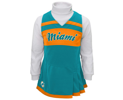 Outerstuff NFL Toddler Girls Miami Dolphins Cheer Jumper Dress