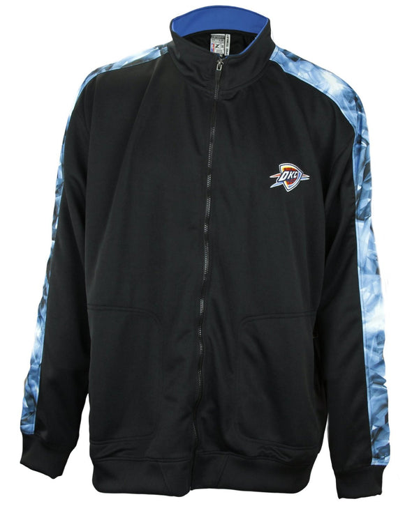 Zipway NBA Basketball Big Men's Oklahoma City Thunder Magma Track Jacket, Black