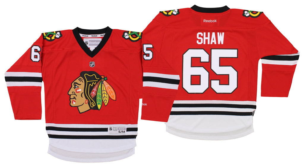 separation shoes 4d418 baf87 Reebok NHL Youth Chicago Blackhawks Andrew Shaw #65 Replica Jersey