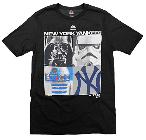 MLB Youth New York Yankees Star Wars Main Character T-Shirt, Black