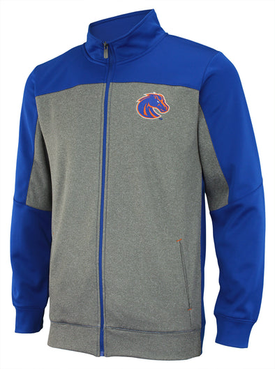 Outerstuff NCAA Men's Helix Full Zip Track Jacket, Boise State Broncos