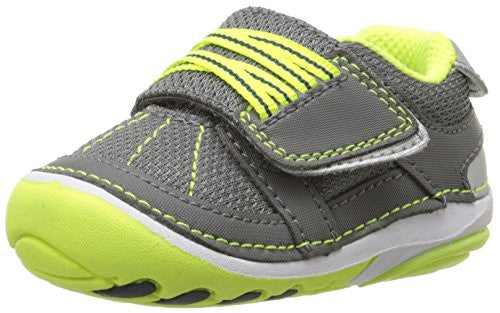 Stride Rite Infant/Toddler Soft Motion Booker Sneaker, Grey/Lime