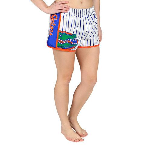 Forever Collectibles NCAA Women's Florida Gators Pinstripe Shorts