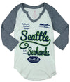 NFL Junior Girls Seattle Seahawks Baseball Shirt - Cream and Grey