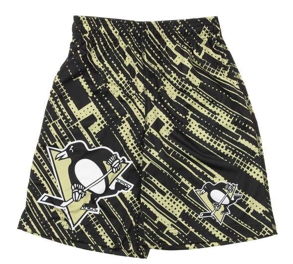 KLEW NHL Youth Pittsburgh Penguins Game Day Shorts