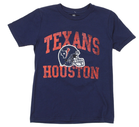 NFL Youth Houston Texans Heritage Distressed Graphics T-Shirt, Navy