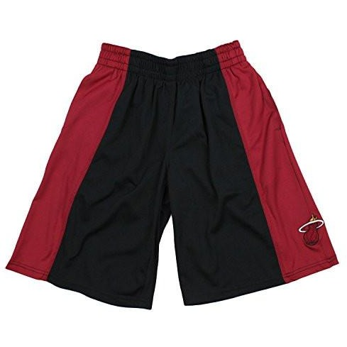 Zipway NBA Big Men's Miami Heat Malone Basketball Shorts, Black