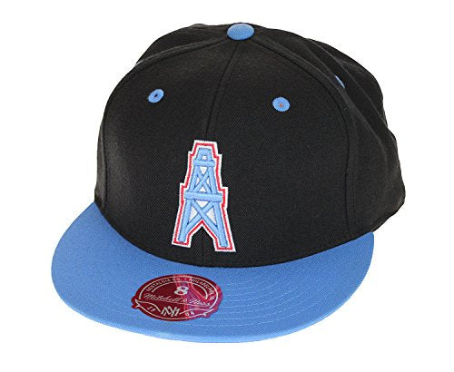 eebe537a4cdb72 Mitchell & Ness Houston Oilers NFL Men's Fitted Team Hat Cap - Different  Styles