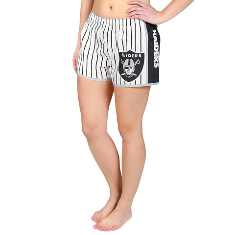 Forever Collectibles NFL Women's Oakland Raiders Pinstripe Shorts