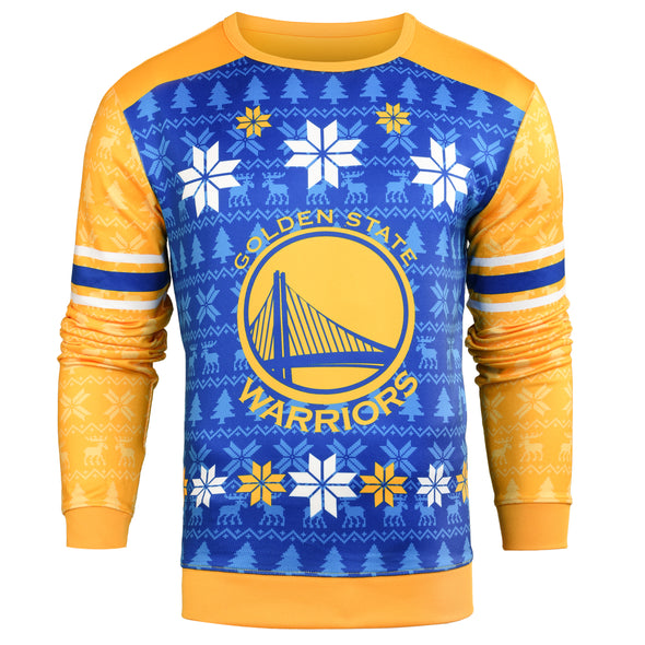 Forever Collectibles NBA Men's Golden State Warriors Printed Ugly Sweater