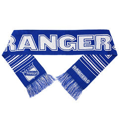 Forever Collectibles NHL New York Rangers 2 Sided Knit Wordmark Logo Scarf