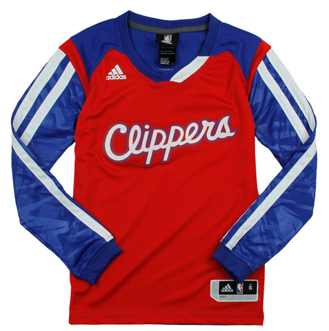 wholesale dealer 8aef4 98869 Adidas NBA Youth Los Angeles Clippers Impact Long Sleeve Shirt - Red