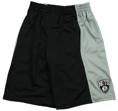 Zipway NBA Big Men's Brooklyn Nets Malone Basketball Shorts, Black