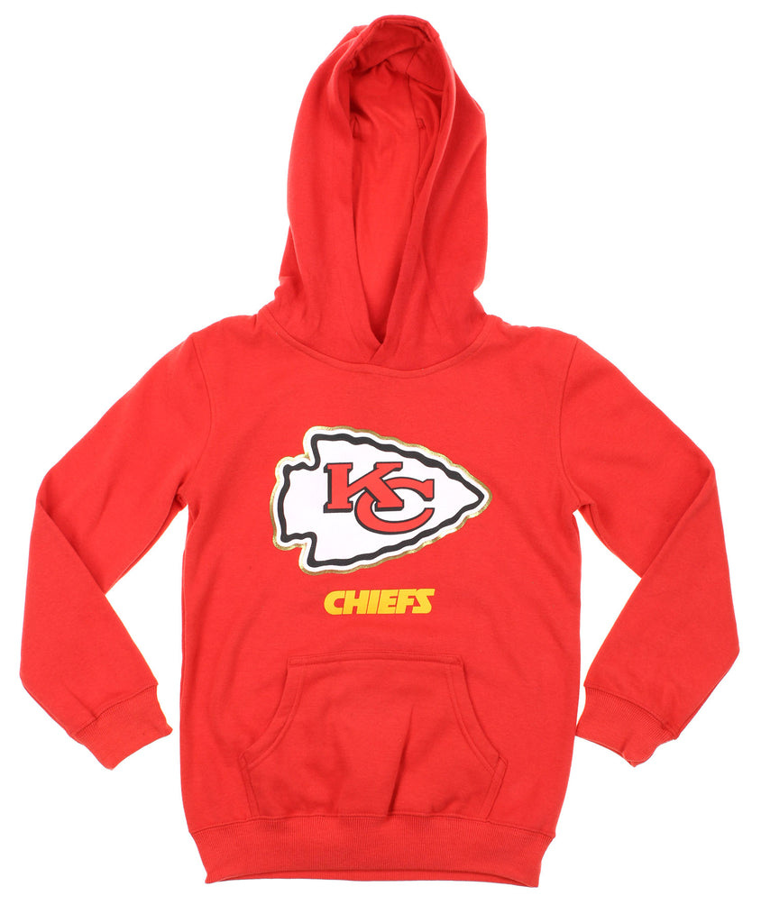 Discount NFL Youth Kansas City Chiefs Gold Standard Pullover Hoodie, Red