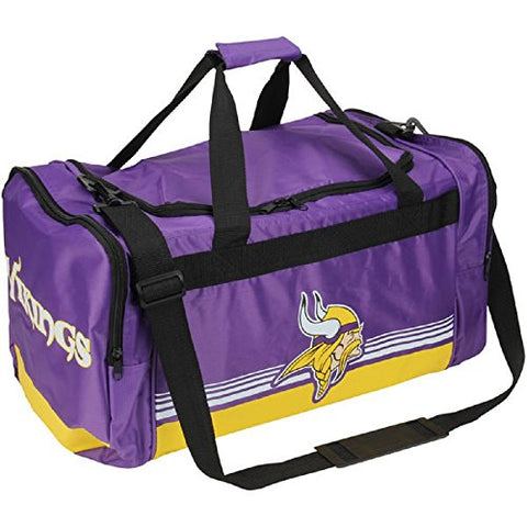 Minnesota Vikings Medium Striped Core Duffle Bag
