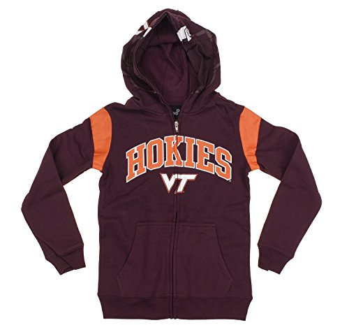 Virginia Tech Hokies NCAA College Youth Boys Full Zip Helmet Hoodie - Maroon