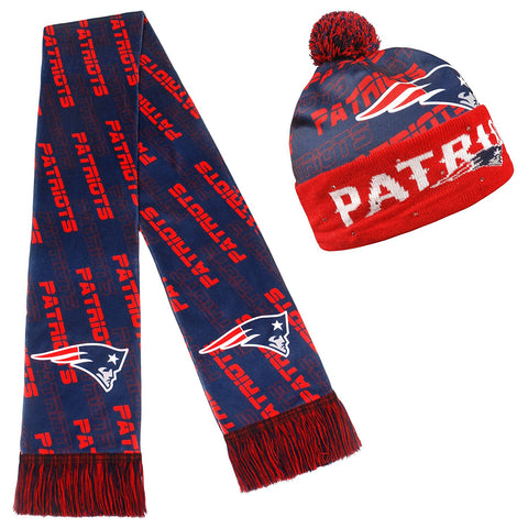 quality design 932d2 fea6f Forever Collectibles NFL Adult s New England Patriots Light Up Beanie And  Scarf Set