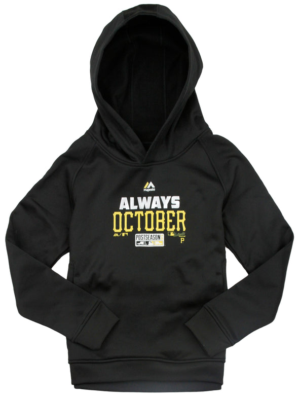 Outerstuff MLB Youth Pittsburgh Pirates Always October Fleece Hoodie - Black