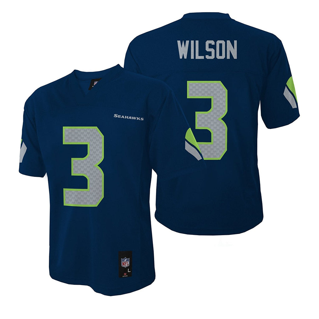 save off ca53d 82916 OuterStuff NFL Youth Seattle Seahawks Russell Wilson #3 Jersey