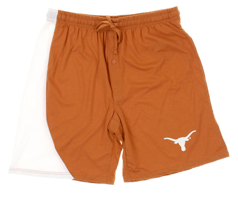 NCAA Men's Texas Longhorns Renegade Pajama Lounge Shorts, Burnt Orange