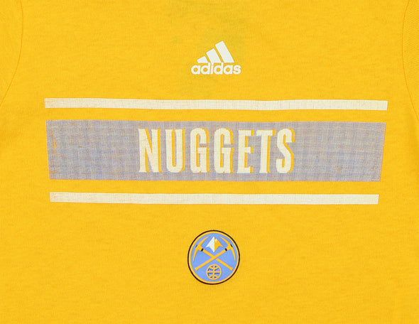 Adidas NBA Toddlers Denver Nuggets Earn Your Stripes Tee Shirt, Yellow