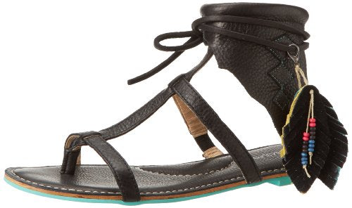 Koolaburra Women's Roquel Indian Gladiator Sandals - Black