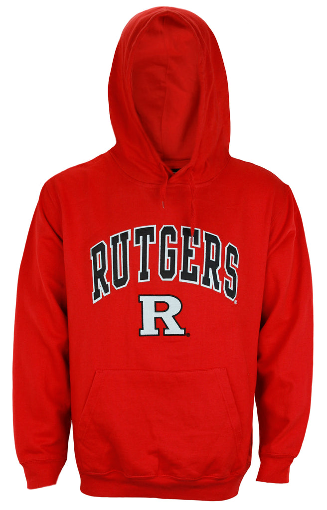 Genuine Stuff NCAA College Men's Rutgers Scarlet Knights Pullover Sweatshirt Hoodie, Red