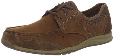 Clarks Men's Armada English Oxfords Fashion Suede Shoes - Tan Brown