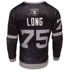 NFL Men's Oakland Raiders Howie Long #75 Retired Player Ugly Sweater