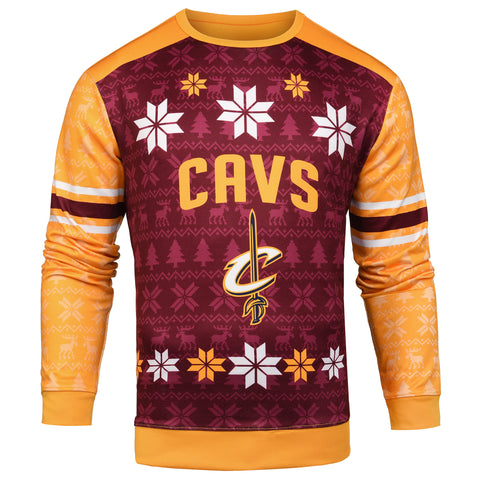 b5c6cf289 Forever Collectibles NBA Men s Cleveland Cavaliers Printed Ugly Sweater