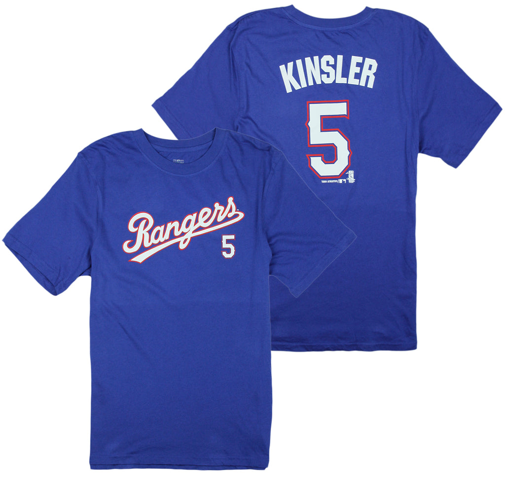 the latest 13a5e b5594 MLB Texas Rangers Little Kids / Youth Boys Ian Kinsler #5 Player Tee  T-Shirt, Blue