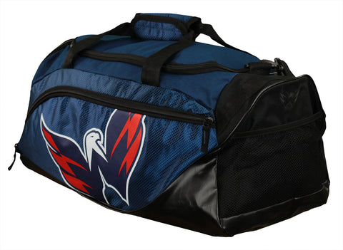 FOCO NHL Unisex Washington Capitals Locker Room Collection Duffle Bag - Small