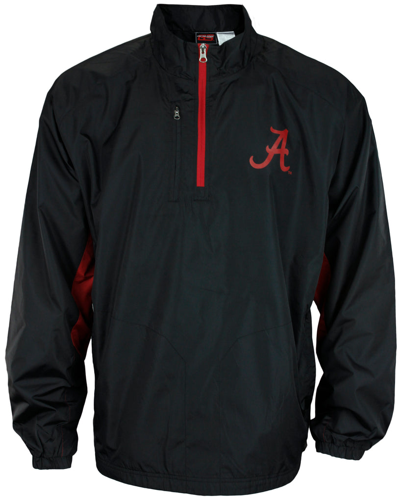 Genuine Stuff NCAA Men s Alabama Crimson Tide Stealth Jacket - Black ... 11cfcc582dceb
