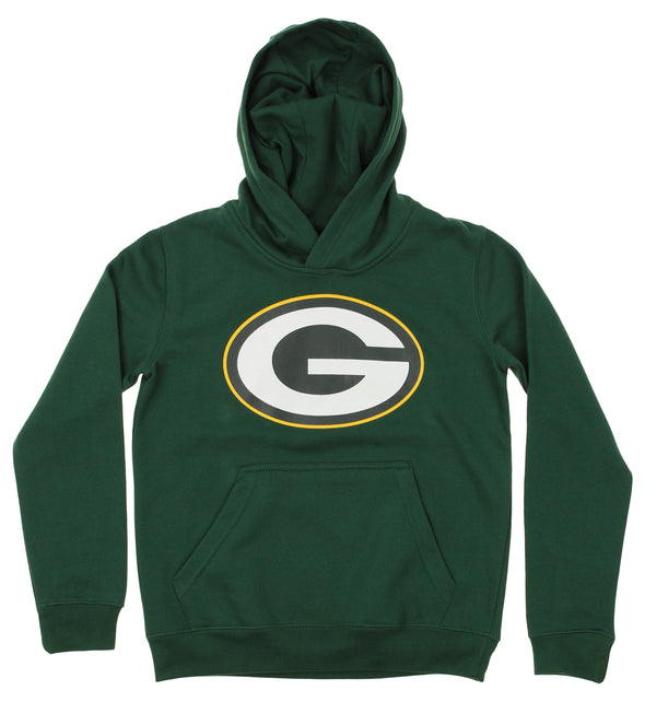 OuterStuff NFL Youth Green Bay Packers Primary Team Logo Fleece Hoodie, Green