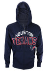 Houston Texans NFL Football Men's In The Pocket Full Zip Fleece Hoodie, Navy