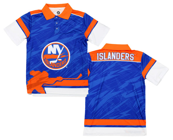 NHL Youth New York Islanders Performance Short Sleeve Polo Shirt